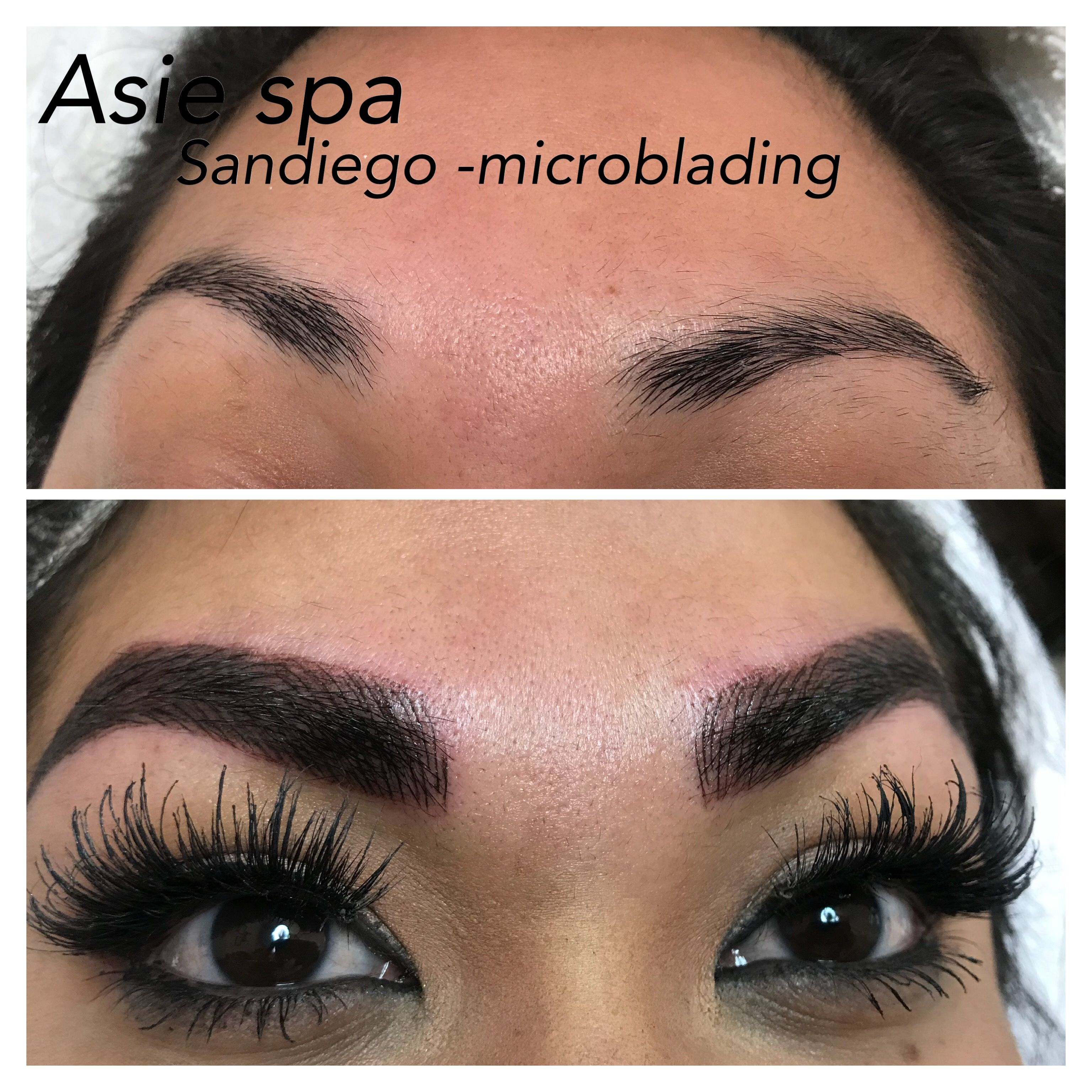 Who Need To Put Make Up On With A Perfect Eyebrows Microblading