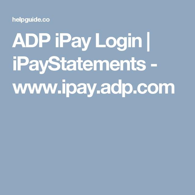 adp ipay login ipaystatements wwwipayadpcom