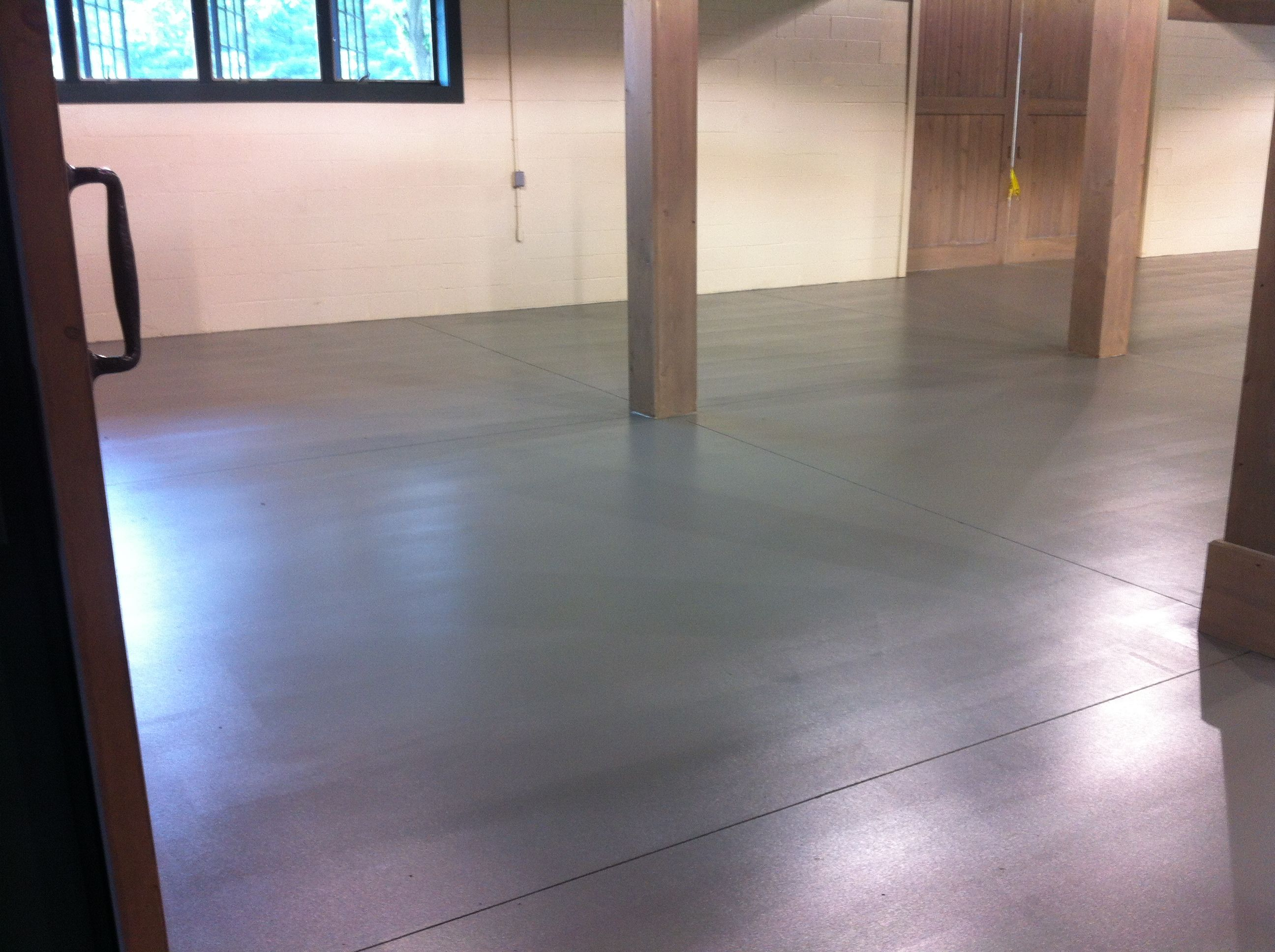 Epoxy floor matte finish basement pinterest epoxy for Basement options