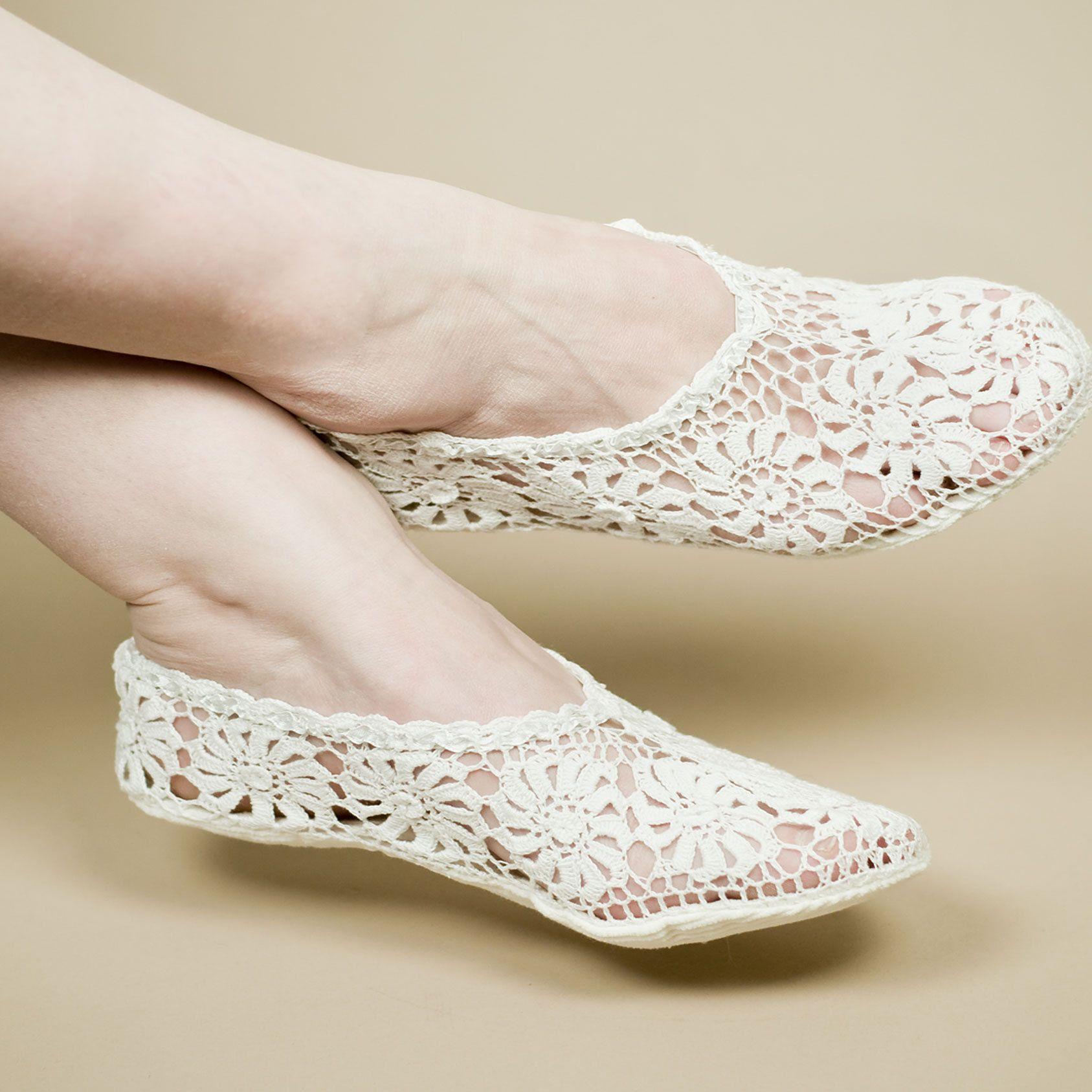 460 - Crocheted Slipper | Crochet slippers | Pinterest | Sandalias ...
