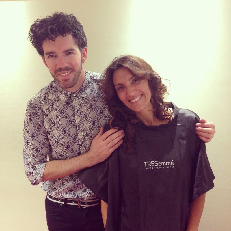 Diego Alfonso junto a María Gomensoro, conductora de ésta edición. @theresa marshalléUy #Lumina8