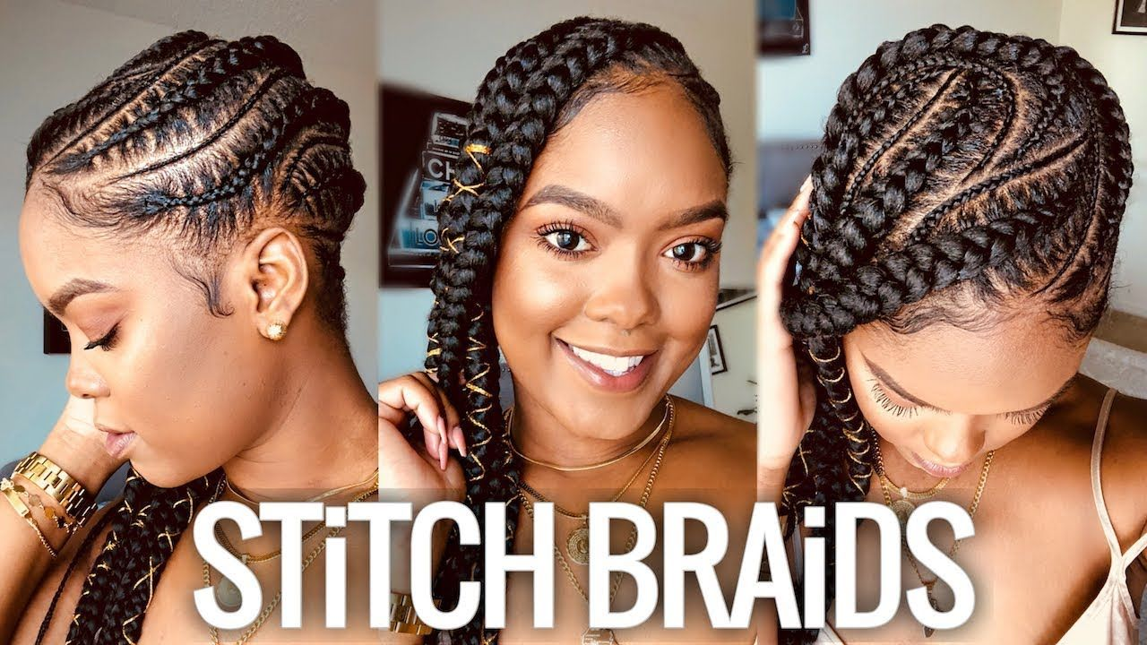 Vacation Hair Feed In Stitch Braids Tutorial Youtube