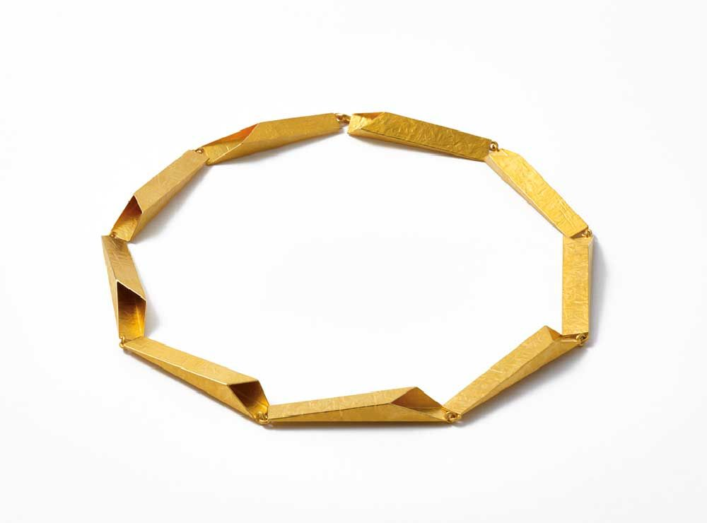 Eco friendly Alexandra Geometric Statement Necklace Simple necklace Wood Copper Anniversary Minimal jewellery Sterling Silver