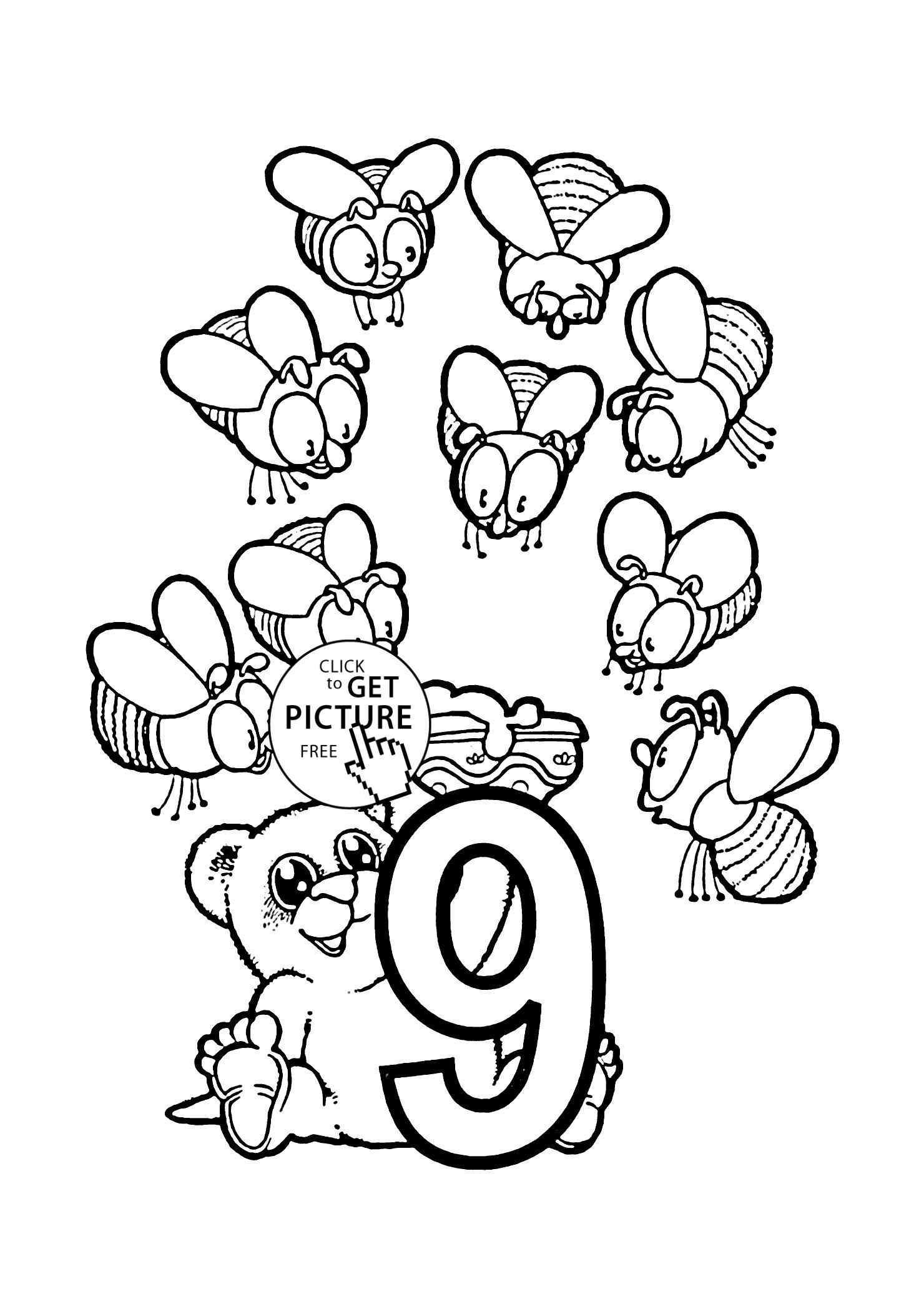 Number 9 Coloring Page Inspirational 43 Number 9 Coloring Page Number 9 Colouring Pages