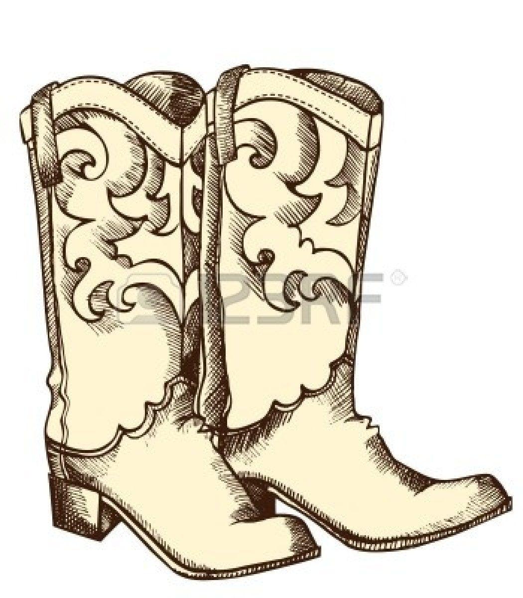 cowboy boot clip art free free clip art cartoon cowboy boot vector graphic image cartoon cowboy [ 1050 x 1200 Pixel ]