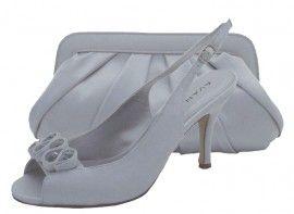 fddf6a2d1a4 Menbur Avance Pearl Grey Peep Toe Shoes. Silver Evening Shoes ...