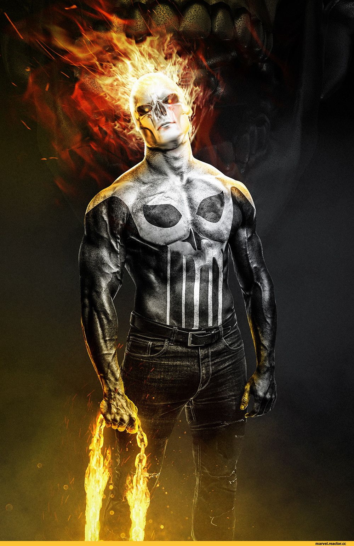Ghost Rider Punisher Kode Lgx Punisher Marvel Punishment