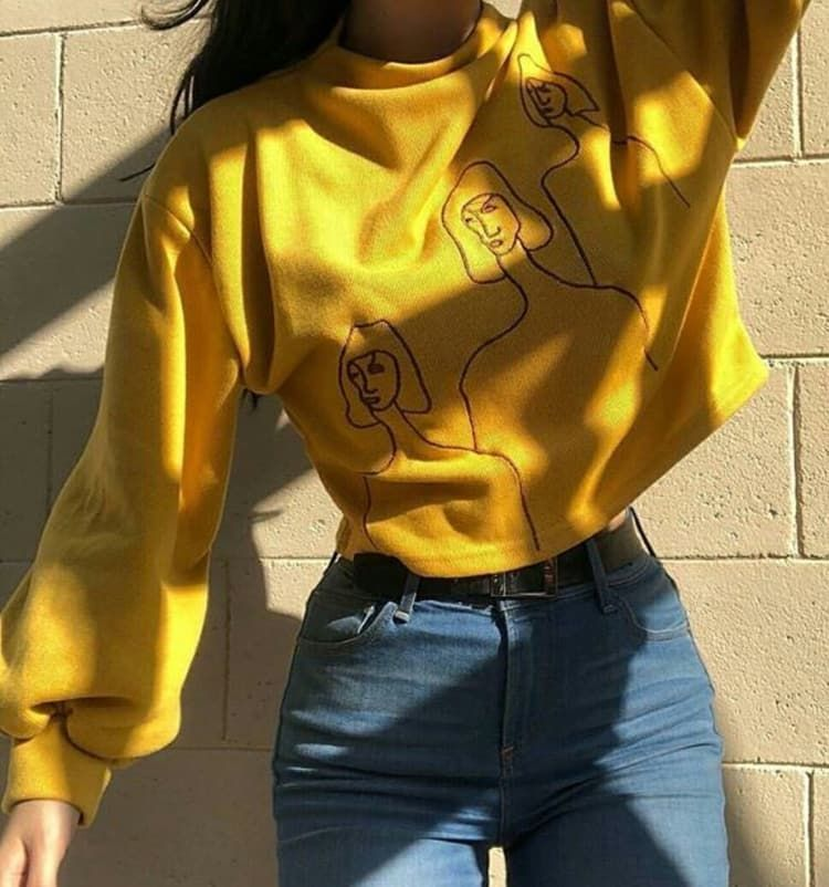 Aesthetic Grunge Outfit Facebook Tumblr Style Cute Jeans Https Weheartit Com Entry 326477927 Aesthetic Clothes Yellow Fashion Grunge Outfits