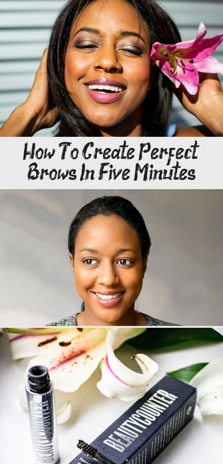 How To Create Perfect Brows In Five Minutes - Fashion Style #naturalbrows