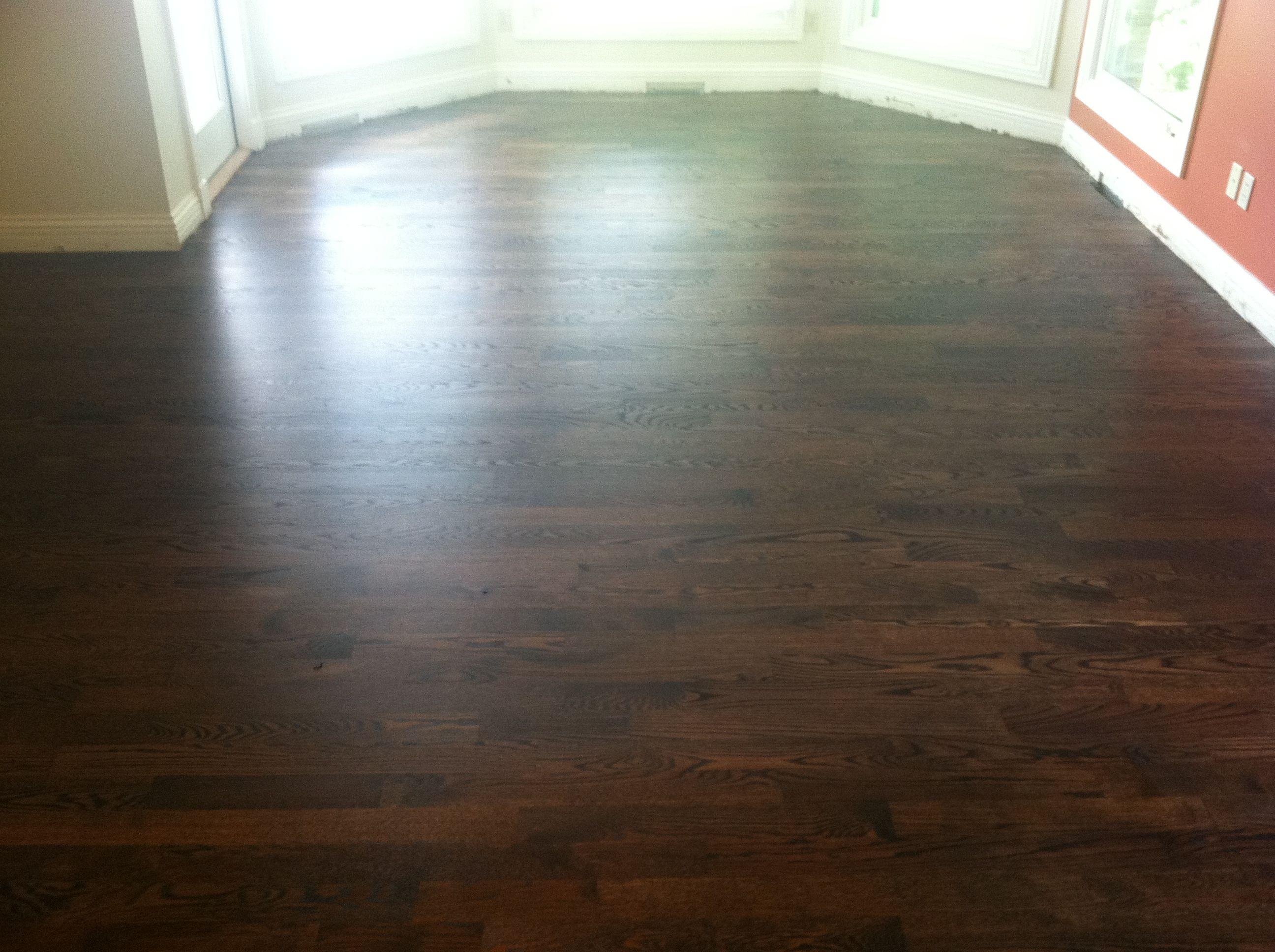 Dark walnut floor stain - Dark Walnut Stained Red Oak