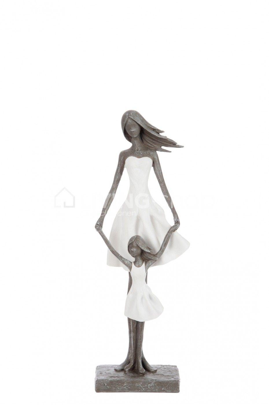 Beeld Moeder Met Kind J Line Livingshop Figurines Jline Beelden Decoration Modernart Beeldhouwkunst Decoratie Kind