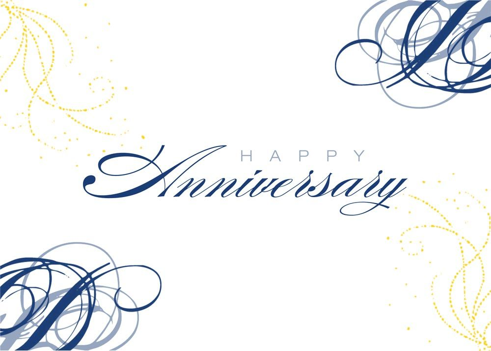 Company Anniversary Card Design  Home  Business Greeting Cards