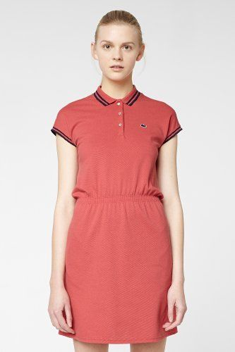 320ff0479 Lacoste L!VE Short Sleeve Stretch Pique Tipped Polo Dress   Dresses ...
