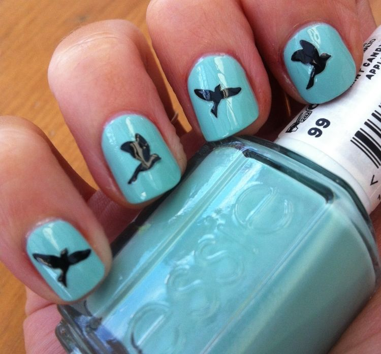 Fly little bird, fly! What a cute mani! - Fly Little Bird, Fly! What A Cute Mani! Nail Art Community Pins