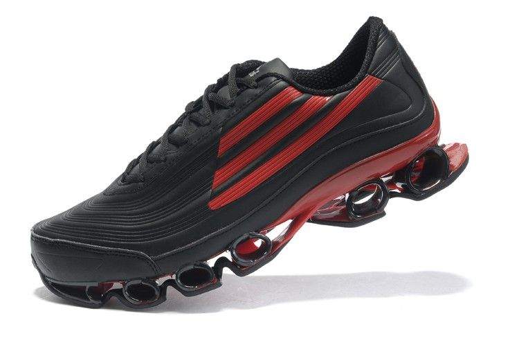 Black � Adidas Bounce Titan Leather Mens Black Red Sport Running Shoes ...