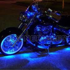 Blue led motorcycle lighting.