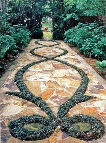 Creative Walkways garden pathways as mother nature intended | gardens, mothers and