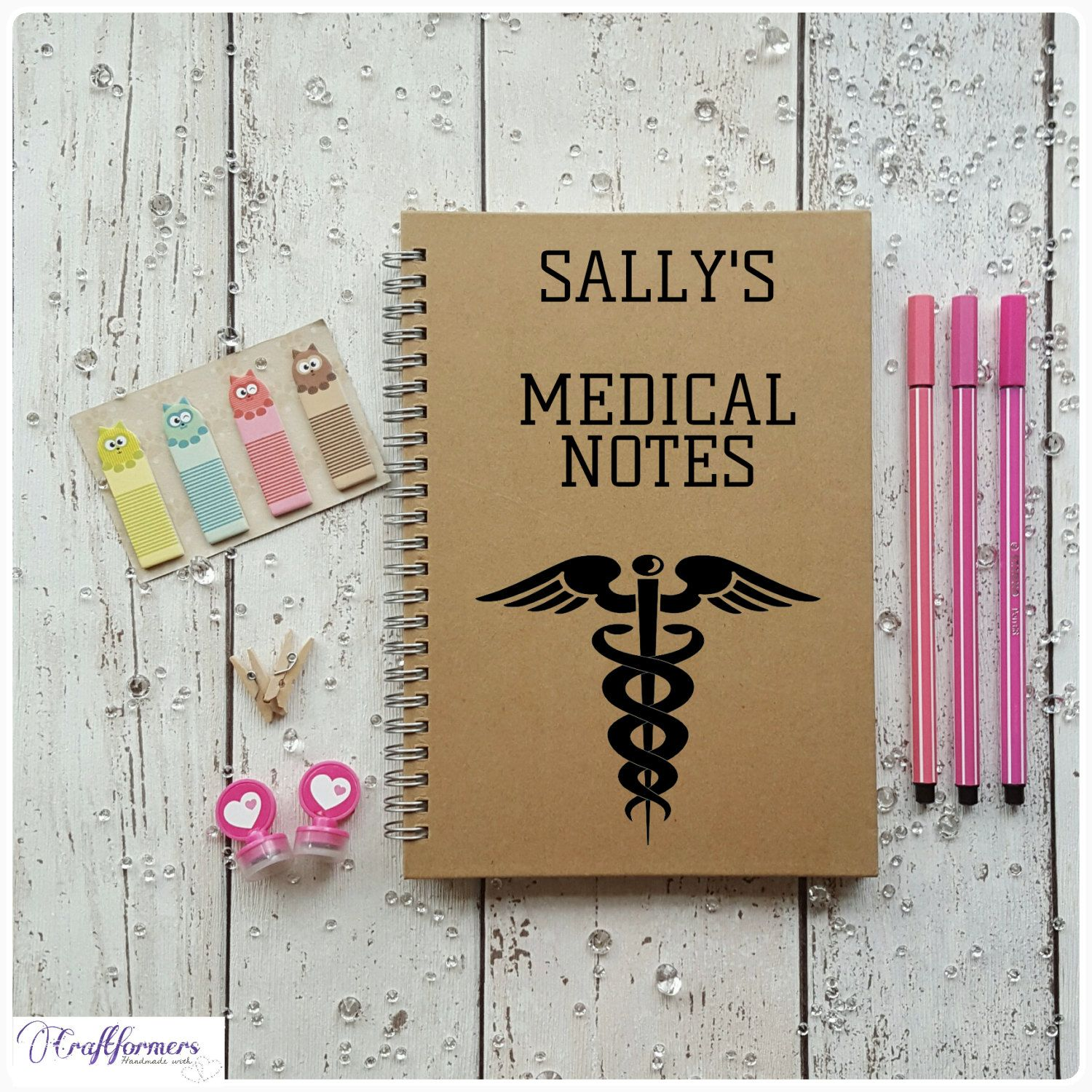 Personalised Medical Notes Journal A Lined Notebook Health