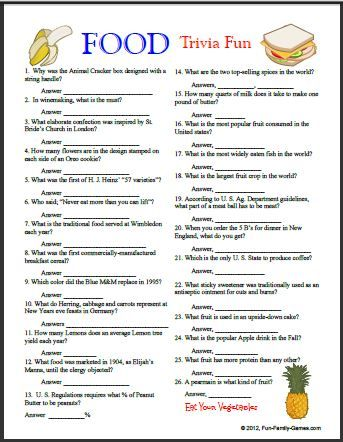 photo regarding Food Trivia Questions and Answers Printable named Food stuff Trivia and Instantaneous Foods Trivia, what yourself consume and where by on your own