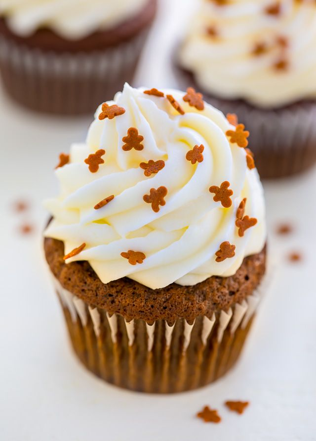 Gingerbread Latte Cupcakes - Baker by Nature
