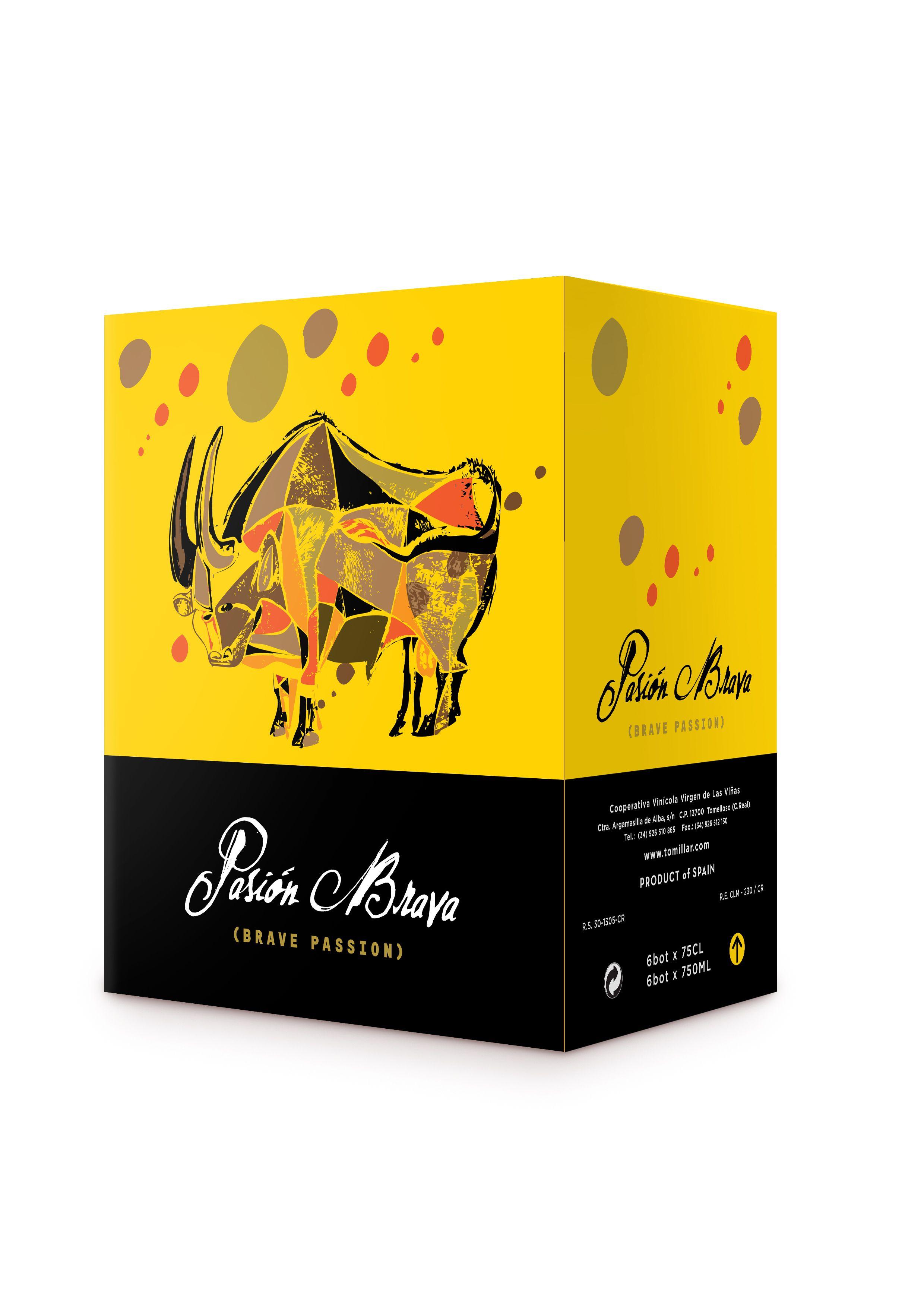 Caja De Botellas De Vino Tinto Vinos De Castilla La Mancha Diseño De Envases Vino De España Caja De Botella