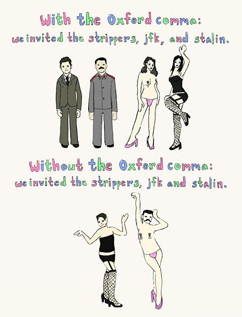 I have to be honest, I used to use the oxford comma, but then several teachers I had didn't like it, I stopped.