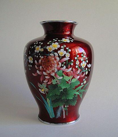 Ando Cloisonne Vase Showa Period Cloisonne Pinterest