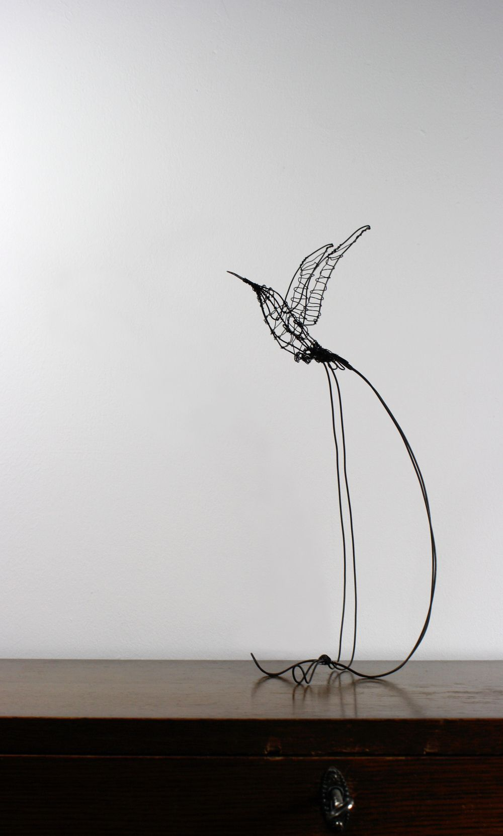 Handmade wire Hummingbird sculpture | Handmade wire and Mythical ...