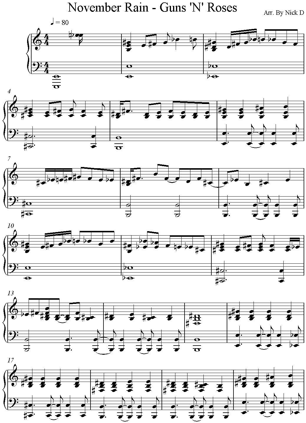brad rosss paper on the song november rain Guns n' roses - november rain chords capo 4 guns n' roses love song lyrics for: november rain-guns n roses with chords for ukulele, guitar banjo etc.