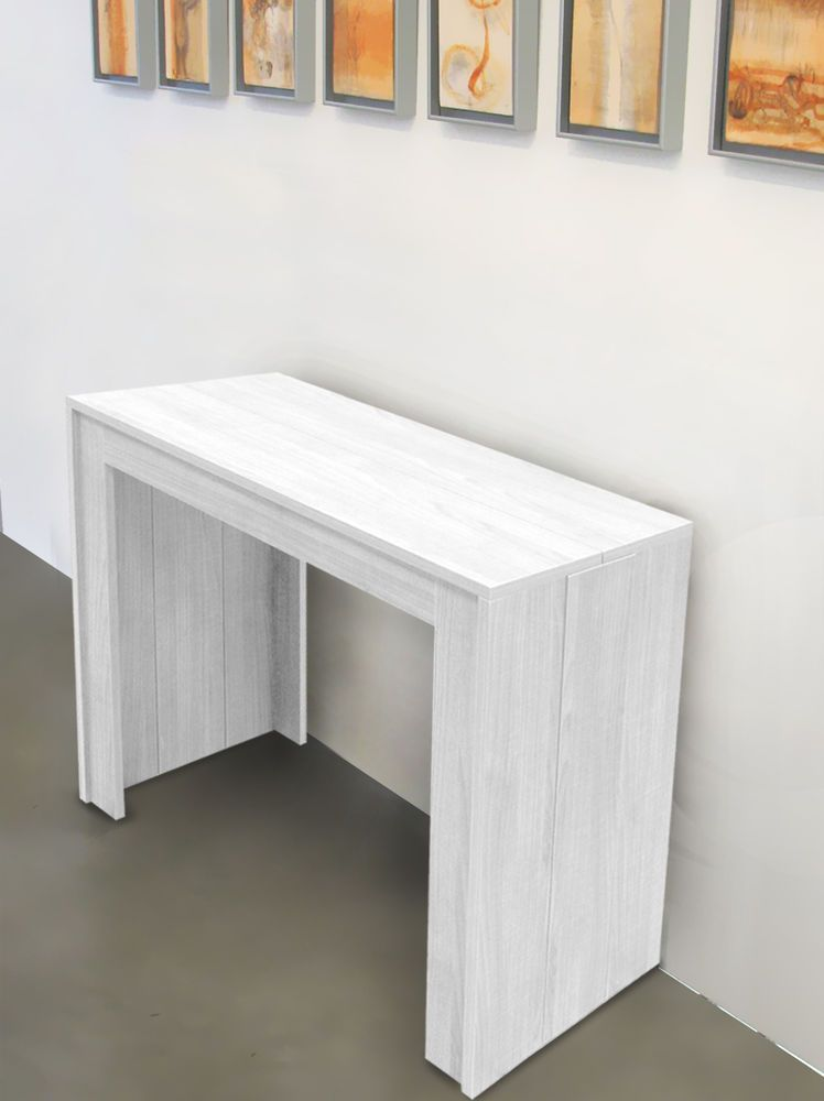 TAVOLO CONSOLLE ALLUNGABILE FINO A 3MT BIANCO FRASSINATO  Tavoli  Pinterest  Shabby, Tables ...