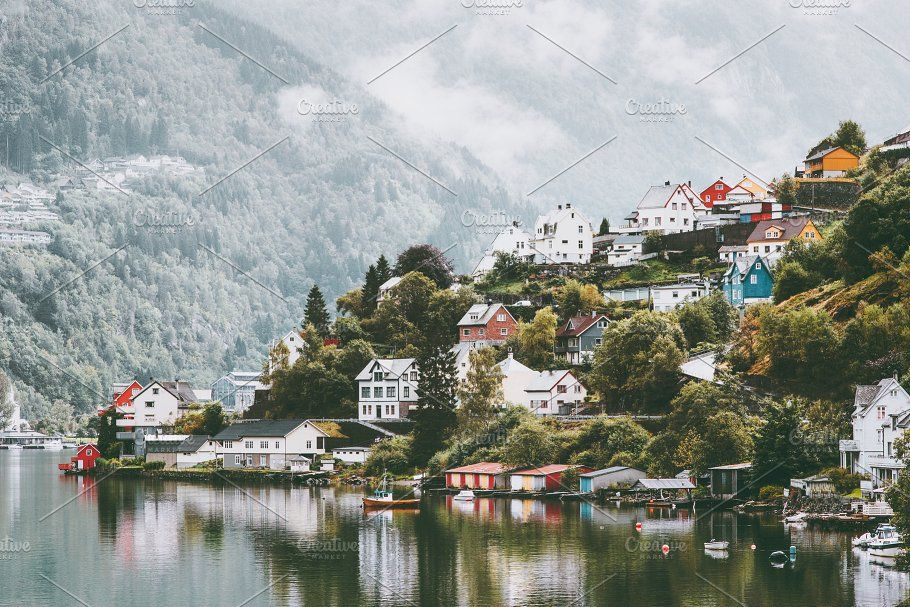 Odda City Houses In Norway Landscape Norway Landscape City House Norway