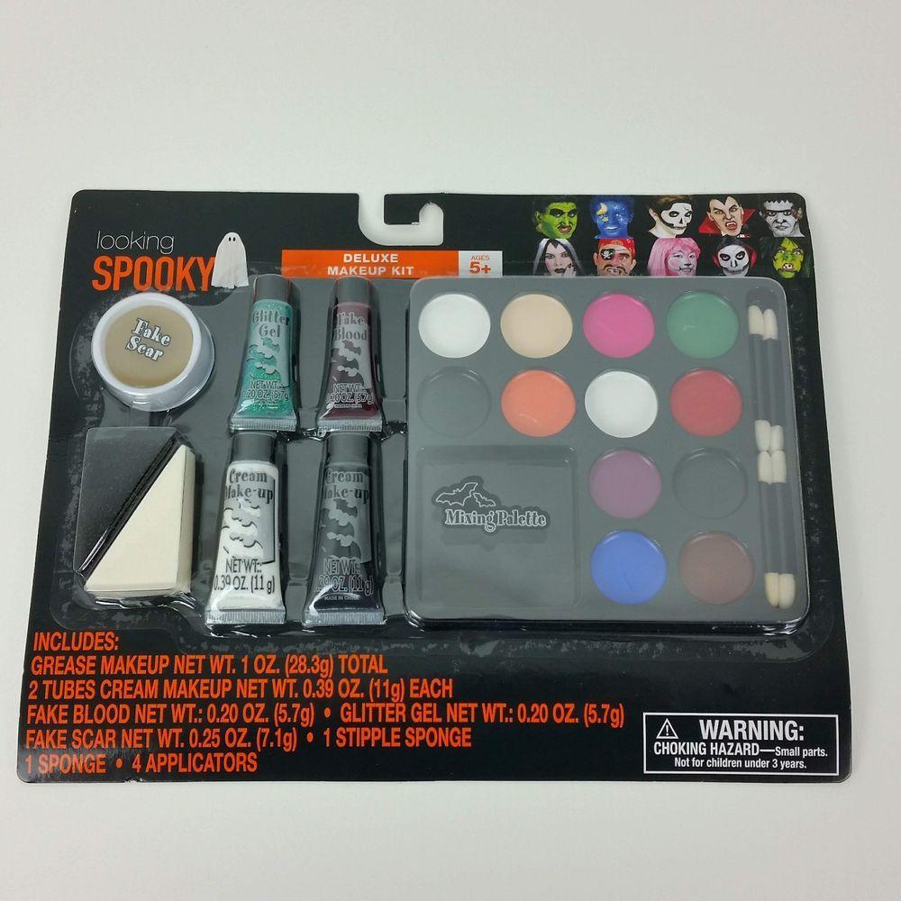 Halloween Deluxe Makeup Kit Looking Spooky Grease Makeup