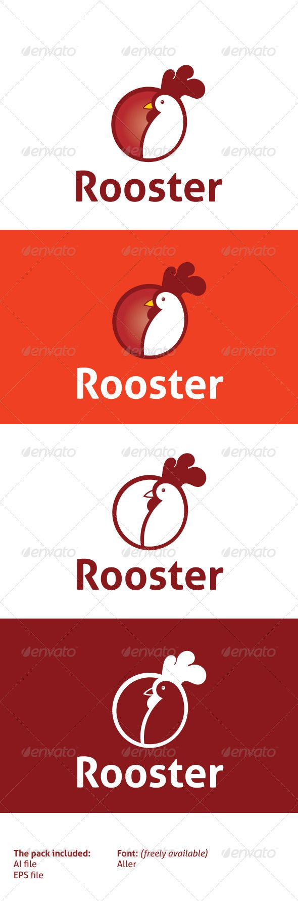 Rooster Circle Logo Design Logo Templates Rooster