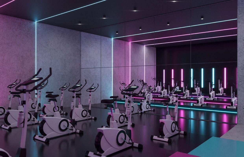 Ladies' Fitness Center Interior Design - Riyadh, Saudi Arabia  - Gym - #Arabia #Center #Design #Fitn...
