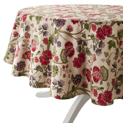 "Home Nature and Floral Tablecloth- 70""R.Opens in a new window  $15"