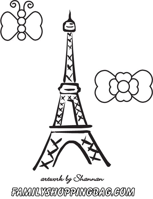 Paris Color Page Coloring Pages