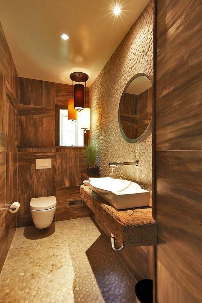 Les beaux exemples de salle de bain rustique 40 photos inspirantes salle de for Salle de bain rustique