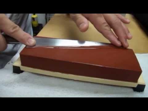 Sharpening Knife On A Whetstone With Master Sushi Chef Hiro Terada Youtube Knife Sharpening Sushi Chef Chef Knife