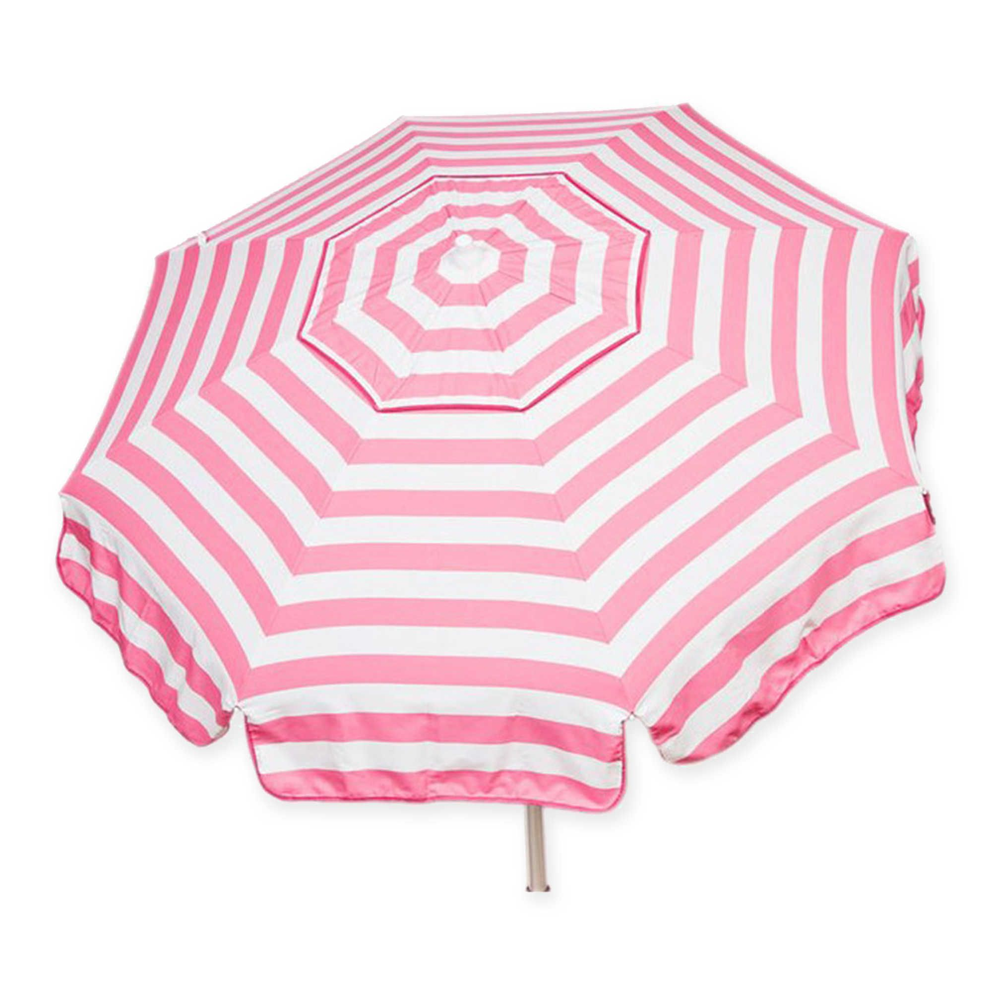foot round italian patio umbrella in pinkwhite  bushes  - foot round italian patio umbrella in pinkwhite