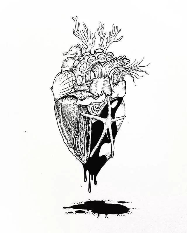 #эскиз #татуировки #рисунки #эстетика #морскойстиль