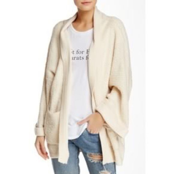 Wildfox white cream oversized cardigan sweater Boutique | Wildfox