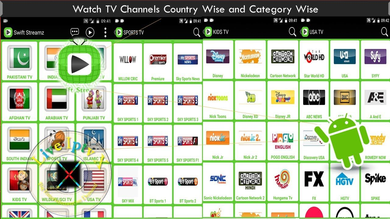 Swift Streamz Apk On Android Device For Watch TV Channels