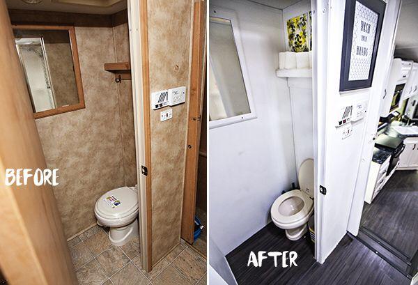 The Rv Renovation Camper Bathroom Remodeled Campers Camper