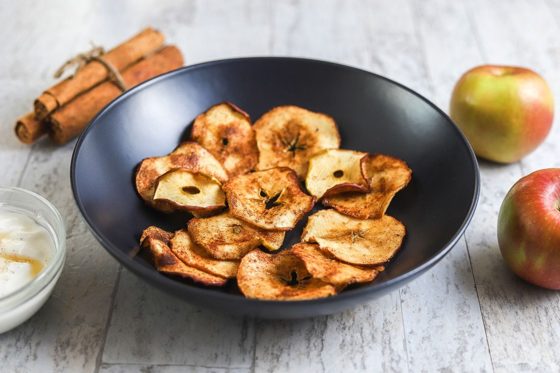 Air Fryer Apple Chips and Dip Recipe Apple chips