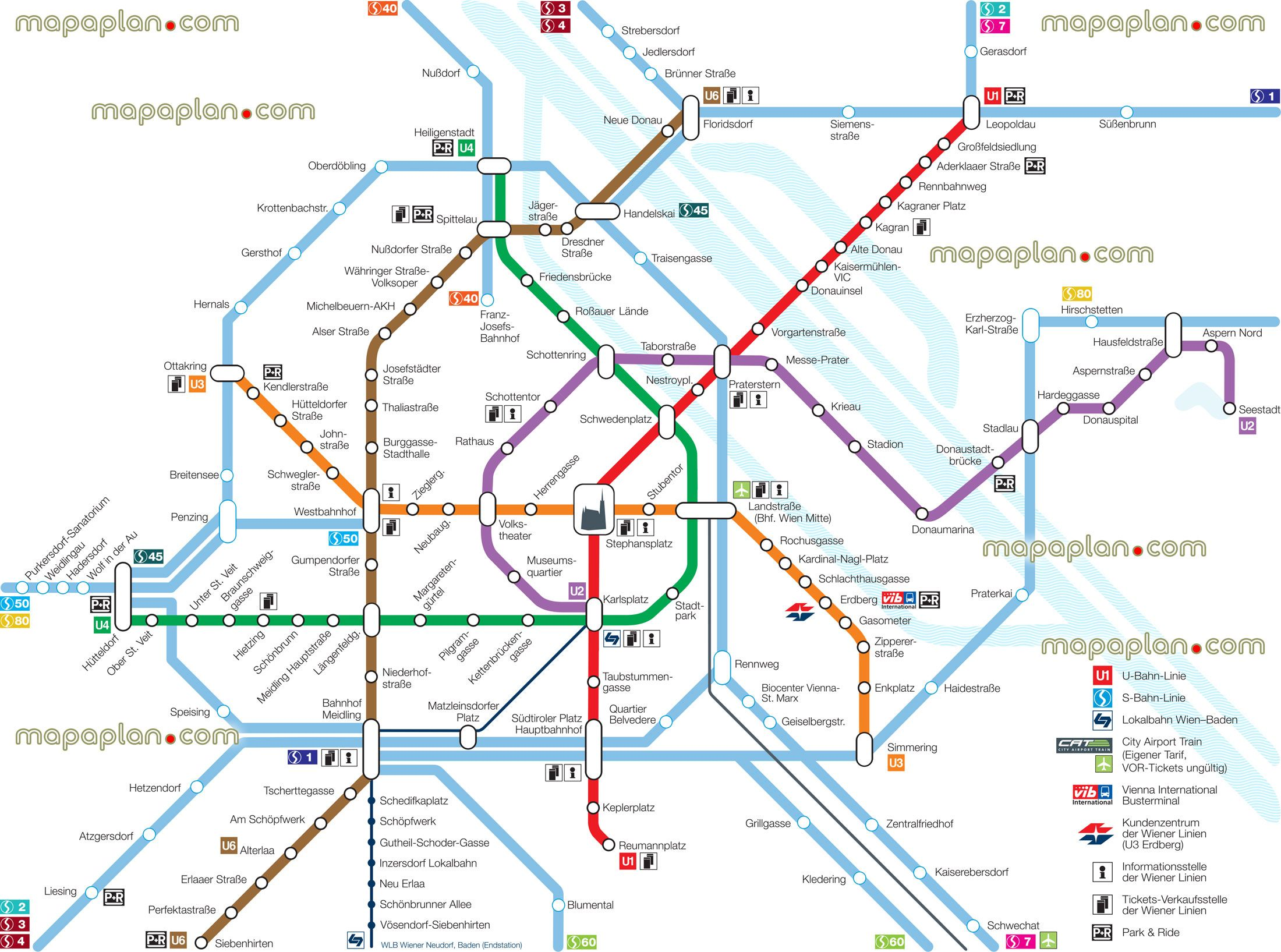 vienna u bahn metro tube underground subway stations zones marked