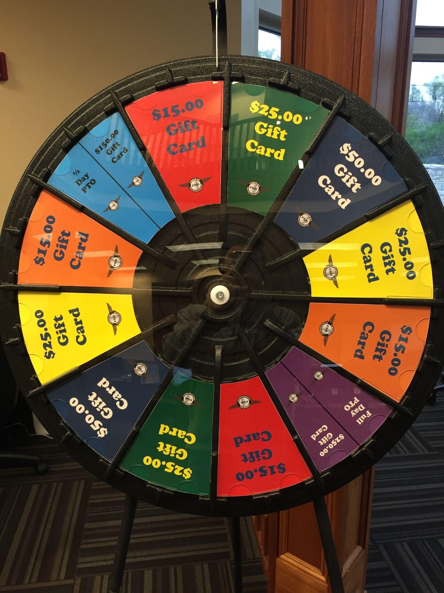 instant win prize wheel