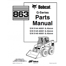 02a7427c625a6038966f93840282b6fe bobcat 863 g series skid steer loader parts manual pdf bobcat