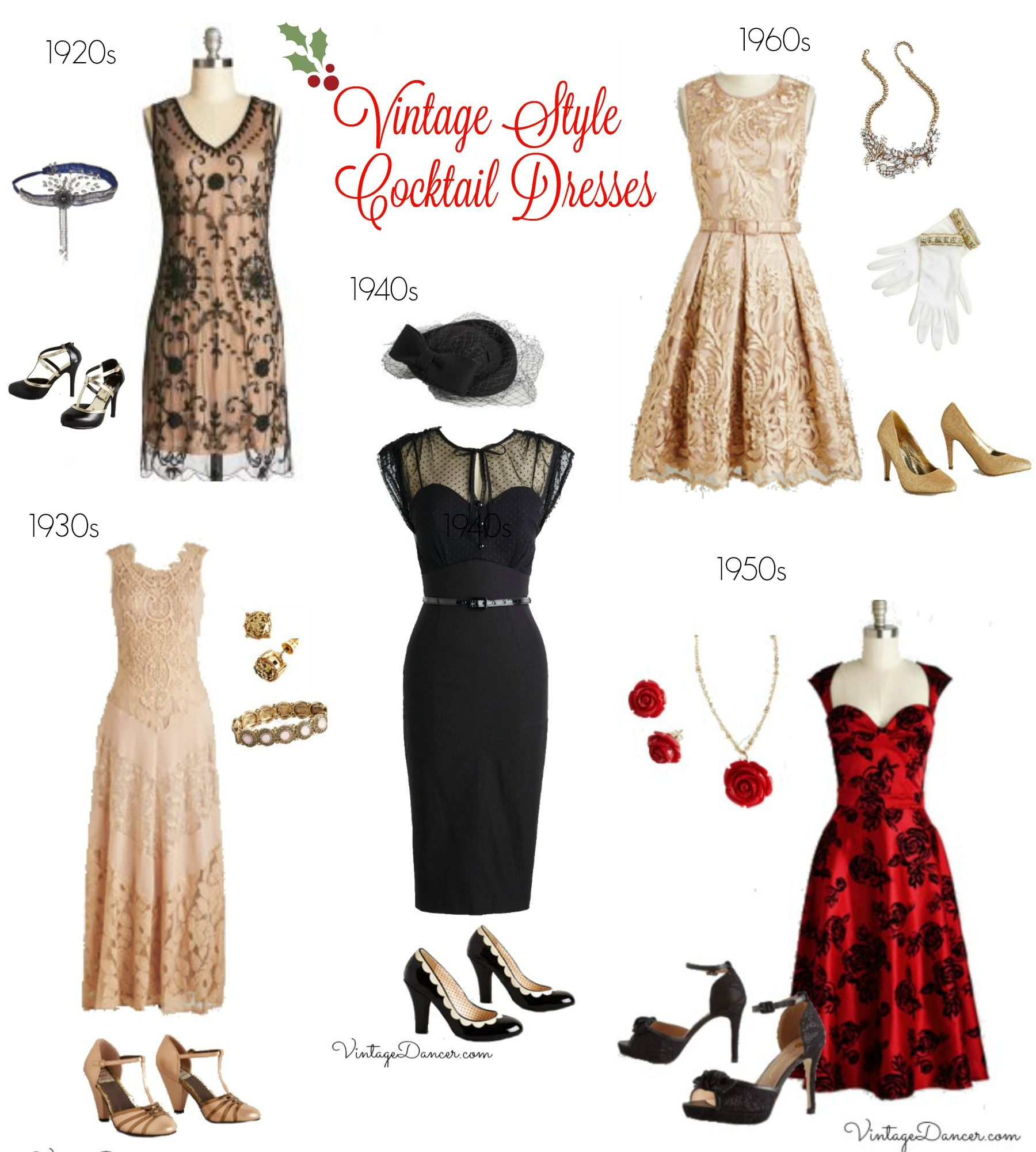 Vintage Style Cocktail Dresses 1920s 1930s 1940s 1950s 1960s Which Decade Is Your Style Find These At Vintagedancer Com Looks Vestidos Moda [ 2000 x 1800 Pixel ]