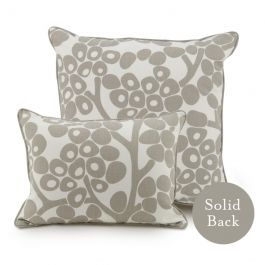 Oilo Modern Berries Pillow - 18x18 in Taupe at DesignPublic.com