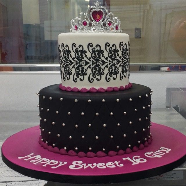 Fantastic Sweet 16 Birthday Cake By Buddy Valastro Cake Boss Funny Birthday Cards Online Aboleapandamsfinfo